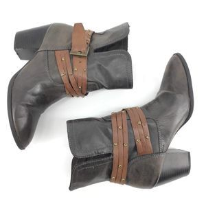MIA Rustic boots western brown studded belt 10M